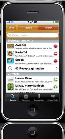 Kochen Und Backen App kochen mit der rezepte app für iphone ipod touch und android